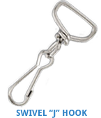 Swivel J Hook from Discount-Lanyards.com