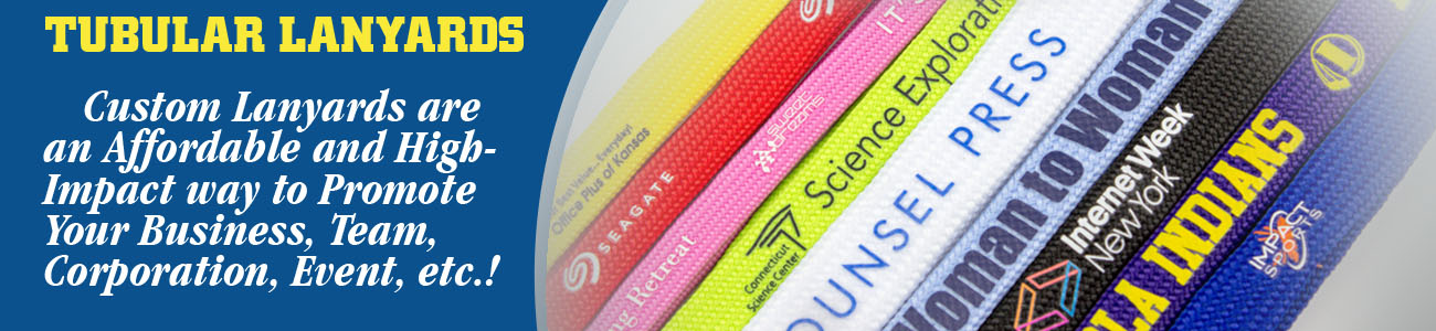 Tubular Lanyards Banner from Discount-Lanyards.com